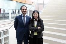 Teresa Monteiro (Vicepresidenta del SRIJ) y Carlos Hernández Rivera (Director General de la DGOJ)