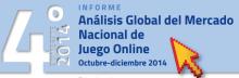 imagen análisis global del mercado nacional del juego online. octubre-diciembre 2014